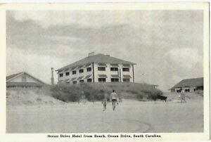 Ocean Drive Hotel From Beach, Ocean Drive, South Carolina, ca. 1940