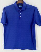 PGA Tour Golf Polo Men's Short Sleeve Shirt Size XL Blue