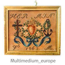 Historismus lavoro manuale PETIT POINT perline ricamo Needlework 🌺 🌺 🌺 🌺 🌺