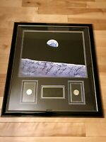 Moon to Earth Limited Edition LITHOGRAPH Astronauts w/Eisenhower Coins 0125/1000