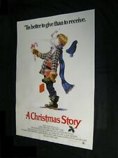 Original Advance CHRISTMAS STORY British Printed International Poster on Linen