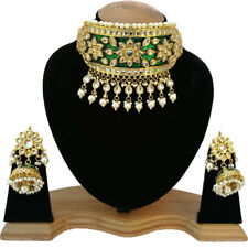 New Latest Wedding Style Meena Kudan Gold Plated Fashion Jewelry Necklace Set