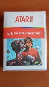 E.T. THE EXTRA-TERRESTRIAL JUEGO HISTORICO ATARI 2600 AÑO 1982 ET