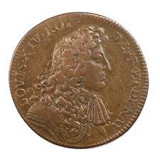 Jeton de Compte Louis XIV Trésor Royal 1679 Revers Arc En Ciel