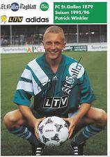 Patrick Winkler  FC St.Gallen 1995/96 Autogrammkarte original signiert 380897