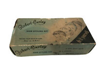 Vintage Robert Curley Hair Styling Kit Box w/Vtg. Curlers- Missing kit Items
