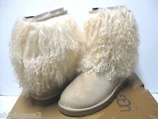 Ugg Sheepskin Cuff Short Sand/Natural Women Boots US 9/UK7.5/EU40/JP26