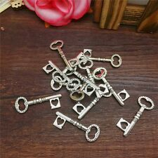 New Charm 8pcs Atrial Key Tibet Silver Pendant Fit for Bracelet Necklace FP27