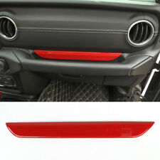 For 2018-2019 Jeep Wrangler JL Red Car Interior Co-pilot Handle bowl Cover Trim