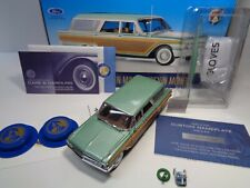 """FRANKLIN MINT RARE 1961 FORD COUNTRY SQUIRE STATION W/DOCS """"RASH FREE"""" READ"""