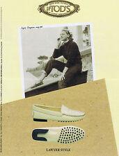 PUBLICITE ADVERTISING 084 1995 J.P.TOD'S chaussures lawyer avec Ingrid Bergman