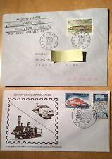 France 1984- 2 Enveloppes Chemins De Fer -  Rame Postale Paris Lyon et TGV 001