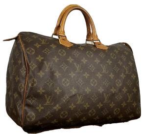 Louis Vuitton LV Monogram Speedy 35 M41524 handbag used 4-100-F24