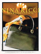 PUBLICITE ADVERTISING 045  1996  NINA RICCI  sac D.ISSERMANN