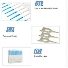 40pcs Teeth Oral Care Interdental Clean Floss Brushes Dental Cleaning Tool Set