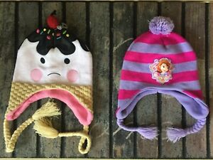 Mixed Lot Winter Warm Beanie Hats Disney / Ice cream Cherry On The Top  One Size