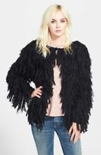 Free People Black Faithful Shaggy Cardi-S