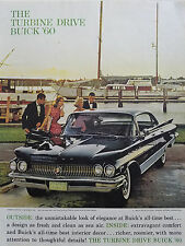 1960 Black Buick Electra 22 Four Door Riviera Sedan Car Color Original Ad