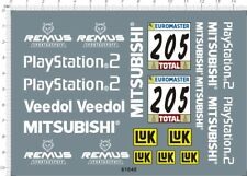 1/18 decals for Mitsubishi Dakar model kits (61640)