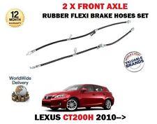 FOR LEXUS CT200H 1.8 HYBRID 2010-> 2X FRONT LEFT + RIGHT RUBBER FLEXI BRAKE HOSE
