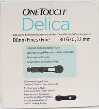 OneTouch DELICIA Dito Manovella Lancette, confezione da 200, test Comfort, 30 G 0.32 mm