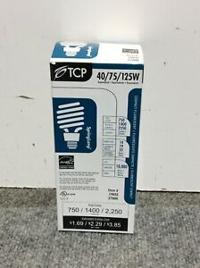 1 Brand New TCP 19032 Compact Fluorescent Spring Lamp Bulb 40W/75W/150W 2700K