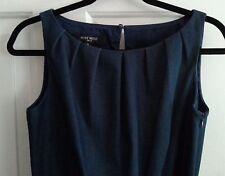 Nine West - Deep Blue Sleeveless Dress With Yellow Patent Belt - Size 6 - EUC