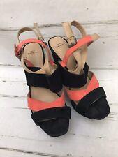 ZARA TRAFALUC Women's Platform Wedge Open Toe Shoes Sandal Size 39