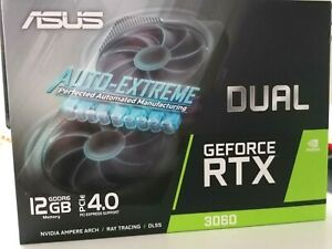 Nvidia ASUS Dual 3060 12GB Gaming, Mining RTX Grafikkarte (NO LHR) Neu & OVP