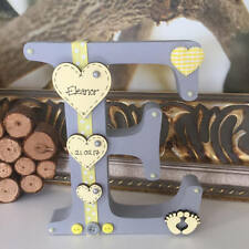 Freestanding Personalised Wooden Letter Handmade New Baby Gift Christening