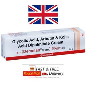 Kojic Acid Glycolic Acid & Arbutin Cream Melasma Hyperpigmentation 20g Demelan