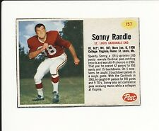 1962 POST CEREAL HAND CUT #157 SONNY RANDLE