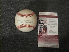 Ron Blomberg Autographed Baseball JSA  Certified