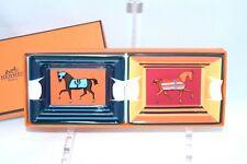 Hermes Couvertures Nouvelles Set di 2 Mini Posacenere Cavallo Modifica Vassoio