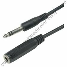 """25ft long 1/4""""Stereo Male~Female Extension Audio/Headphone/PA Cable/Cord 6.3mm{-"""