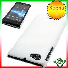 Custodia rigida specifica per Sony Xperia J ST26i BIANCA cover aderente sottile