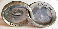 "Malden Wedding Frame ,2 Opening , With This Ring I Thee Wed. 3"" X 2.5"" Nib"