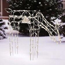 "Holiday Time 40""  Animated Feeding Doe Light Sculpture Christmas Decor wm5 m01"