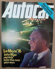 Autocar 19/06/1976 Vauxhall Chevette; VW Golf GTi; VW Scirocco GTi; Colt Lancer