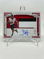 2020 National Treasures Zack Moss Rookie RC 3 Color Patch Auto SP #17/99 - Bills