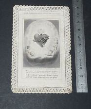 CHROMO 1880-1890 IMAGE PIEUSE CATHOLICISME HOLY CARD CANIVET SACRE COEUR