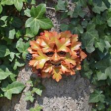 Hawthorn Green Man Garden Ornament Wall Plaque Face Berries Leaf Tree 09012