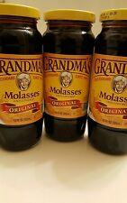 ((3 BOTTLES))) GRANDMA'S ORIGINAL UNSULPHURED  MOLASSES-12oz JAR(FREE SHIPPING))