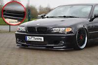 Frontspoiler für BMW E46 3er M-Technik 2 Spoilerschwert ABS ABE schwarz glänzend