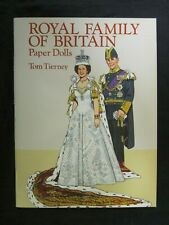 Vintage Paper Doll Book - Royal Family of Britain Paper Dolls Tom Tierney 1994