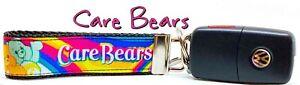 "Care Bears Key Fob Wristlet Keychain 1"" wide Zipper pull Camera strap"