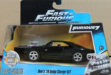 DOM'S BLACK 1970 CHARGER R/T FAST & FURIOUS JADA 1:32 SCALE DIECAST MODEL CAR