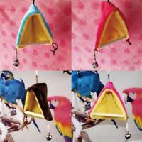 Bird Parrot Warm Fleece Hammock Perch Tent Hanging Swing Bed Cave Cage Bunk Toys