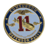 US Navy COMSUBRON Defensor Pacis Challenge Coin