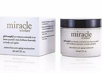 Philosophy Miracle Worker Moisturizer  2 oz!!  ALWAYS~NEW/BOXED!